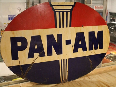 Pan Am Fuel Sign