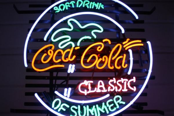 Neon Sign Coca Cola Classic of Summer